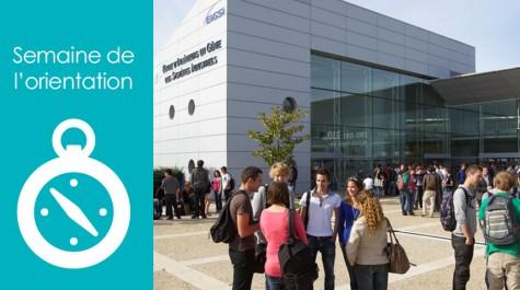 """Visuel """"Semaine de l'orientation"""" avec une photo du site de La Rochelle de l'EIGSI, école d'ingénieur qui a aussi un campus à Casablanca. © EIGSI"""