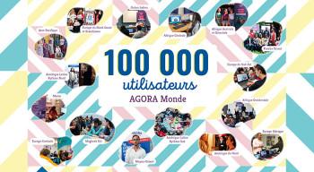 Plus de 100 000 utilisateurs sur la plateforme AGORA MONDE !