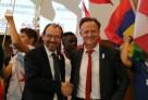 Christophe Bouchard (AEFE) et Laurent Petrynka (UNSS) aux JIJ à Marseille.