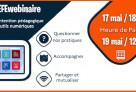 De l'intention pédagogique aux outils numériques : webinaires ouverts à tous les enseignants le 17 et le 19 mai (sur inscription)