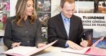 Signature d'une convention de partenariat entre TV5MONDE et l'AEFE
