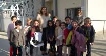 Valérie Trierweiler à l'école française d'Alger