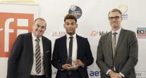 Cérémonie des Trophées des français de l'étranger 2021 : Matthieu Pallud sur scène
