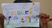 Semaine/mois des langues : dessin d'un élève de CE1 à l'école de la Nativité à Djibouti