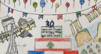 Semaine/mois des langues : dessin d'un élève en CE1 au LAK à Beyrouth