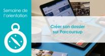 Semaine de l'orientation : tutoriel pour créer son dossier candidat sur Parcoursup