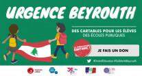 """Se mobiliser pour la campagne solidaire """"Urgence Beyrouth, des cartables pour les élèves des écoles publiques"""""""