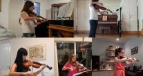 Le Canon de Pachelbel interprété au violon et à l'alto par cinq musiciennes de l'OLFM