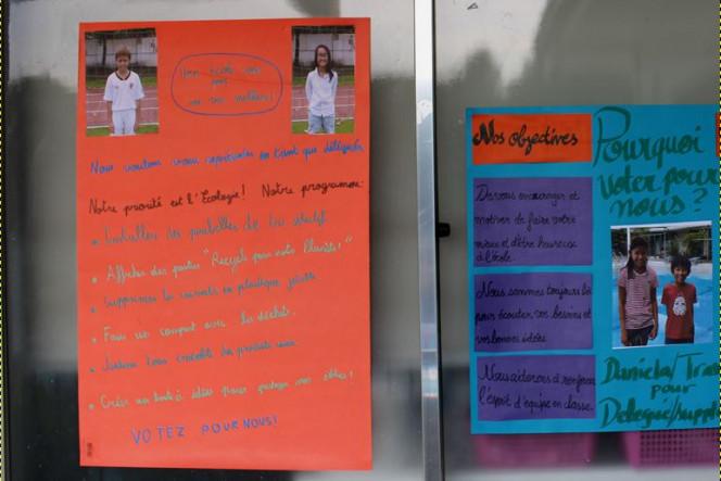 Campagne électorale à l'école française de Manille