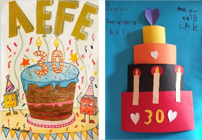 Semaine/mois des langues : dessin et collage d'élèves en CE1 au LAK à Beyrouth
