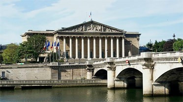 Le palais Bourbon, siège de l'Assemblée nationale