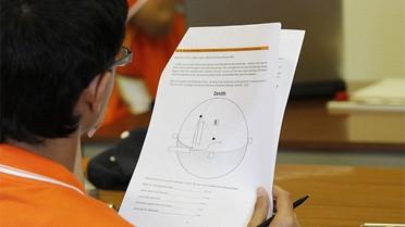 Un candidat lors d'une épreuve des IESO 2011