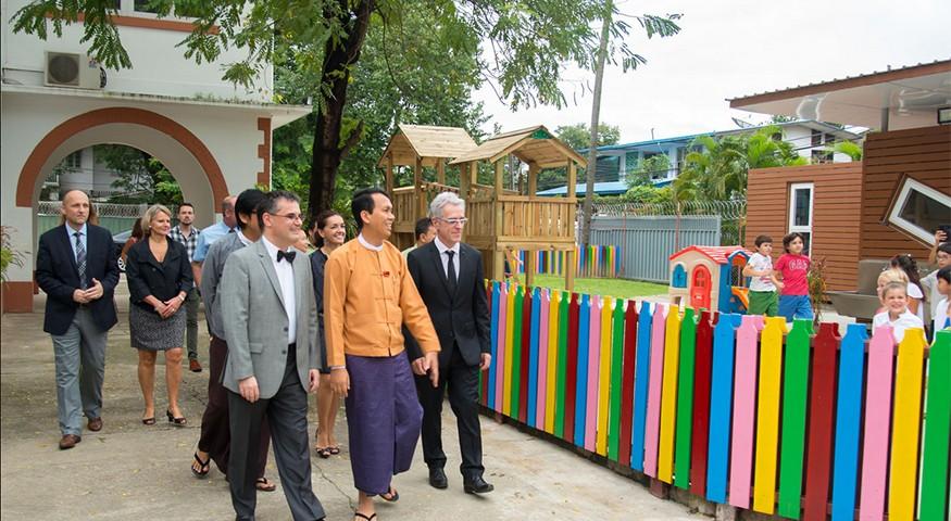 Inauguration à Rangoun