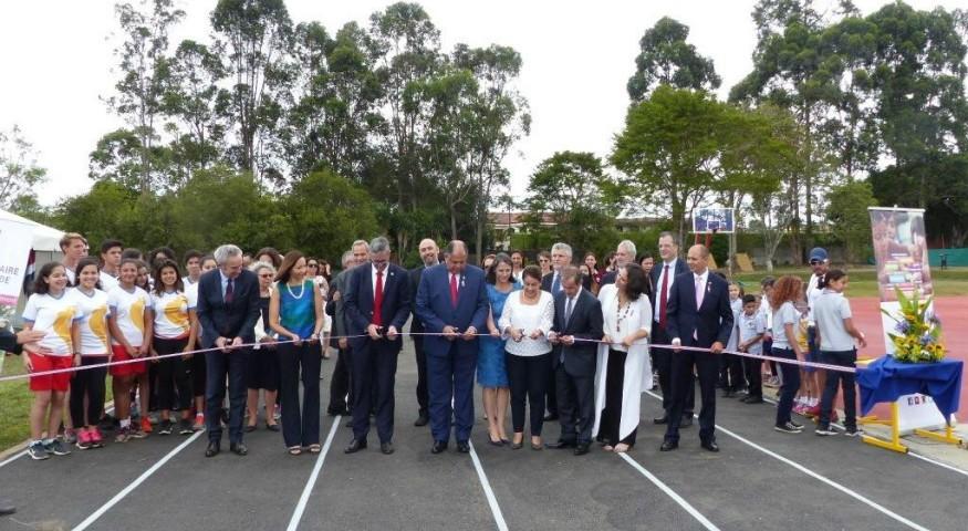 Inauguration de la nouvelle piste d'athlétisme