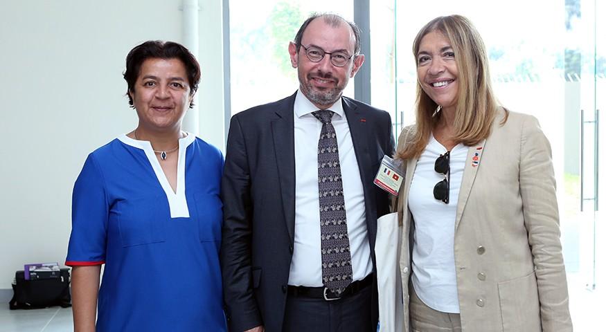 Marie-Christine Saragosse accompagne la délégation du Premier ministre