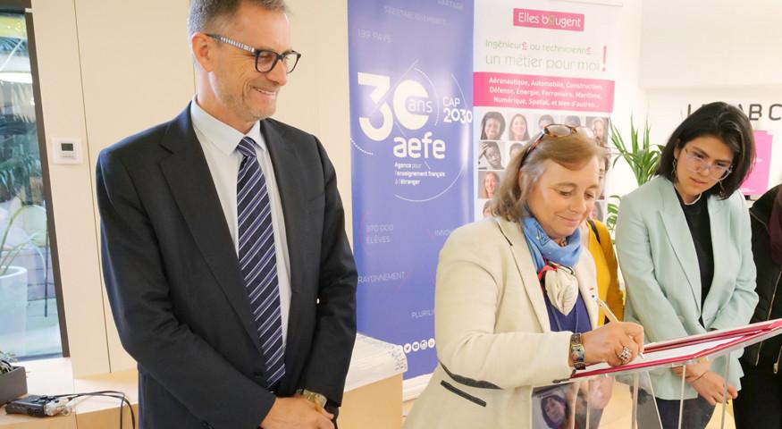 """L'association """"Elles bougent"""", partenaire de l'AEFE"""