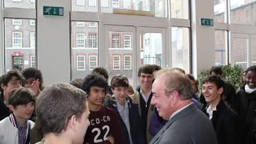 Rencontre au lycée français de Londres, en 2010