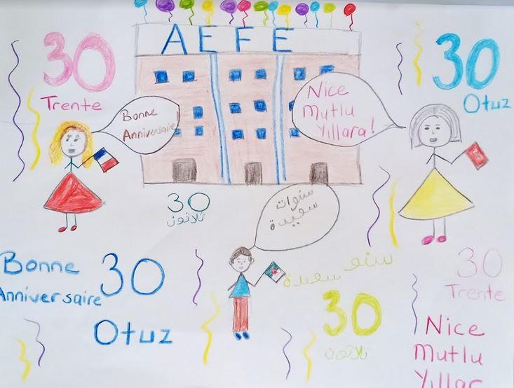 Dessin d'un élève en CE1 à Oran