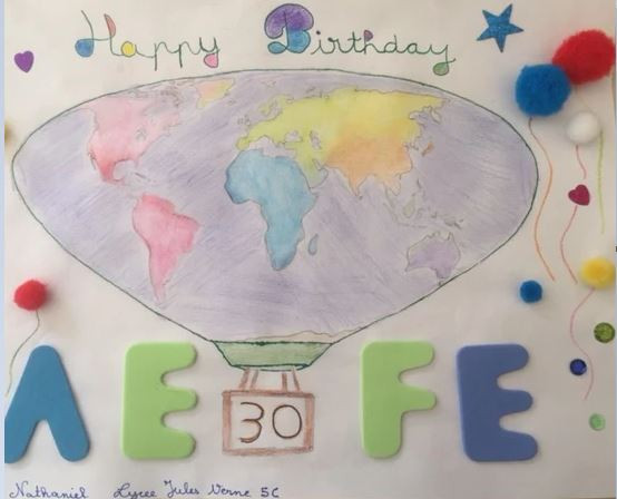 Dessin d'un élève en 5e à Johannesburg