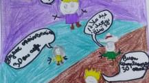 Semaine/mois des langues : dessin d'un élève de CP à Annaba