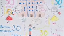 Semaine / mois des langues : dessin d'un élève en CE1 à Oran