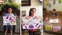 Semaine/mois des langues : dessins et sourires d'élèves du collège Élysée au Liban
