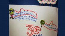 Semaine/mois des langues : dessin d'un jeune élève à Fanar au Liban