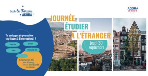 """Journée """"Étudier à l'étranger"""" : se connecter avec le monde entier sur AGORA MONDE !"""