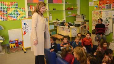 Visite d'une classe de maternelle.