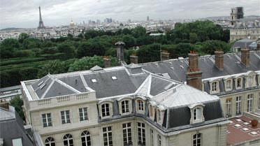 """Les toits de """"Mines de Paris"""", implantation parisienne de l'école d'ingénieur"""