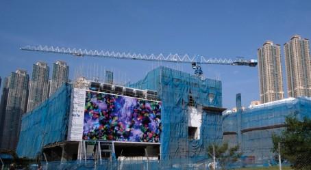 La reproduction gigantesque sur la façade Est