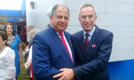 Le président avec le directeur adjoint de l'AEFE