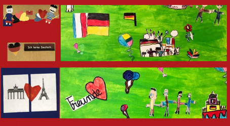 L'amitié franco-allemande en dessins (Sarrebruck et Dilling)